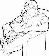 Coloring Father Son Dad Pages Clipart Printable Print Colorin Relationship Gift Clip sketch template