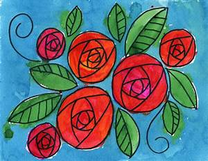 How to Draw a Circle Rose · Art Projects for Kids