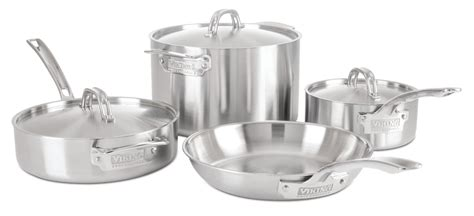 professional cookware viking piece stainless steel ply quality sets commercial kitchen satin abt metrokitchen amazon