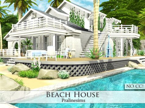 Beach House By Pralinesims At Tsr » Sims 4 Updates
