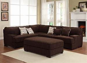 Chocolate brown sectional sofas living room found it at for Red and brown sectional sofa