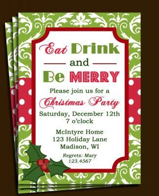 Christmas Lunch Invitation Template Free Christmas party