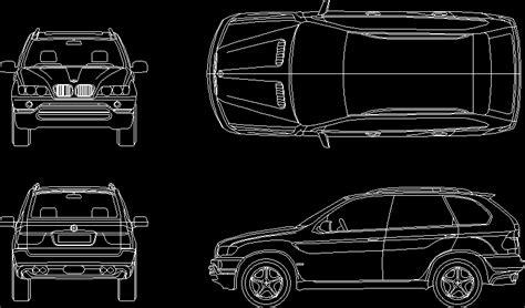car bmw   dwg plan  autocad designs cad