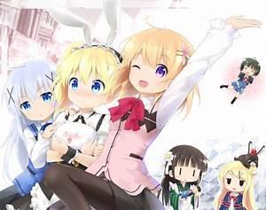 Gochuumon, Wa, Usagi, Desu, Ka, Kafuu, Chino, Anime, Girls, Long, Hair, Wallpapers, Hd, Desktop, And