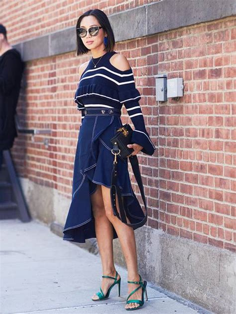 skirt denim fall outfits wearing wear tulle c