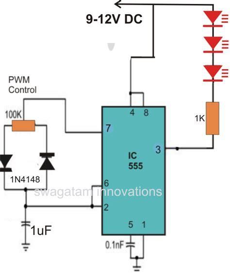 a pwm based led strobe light effect generator