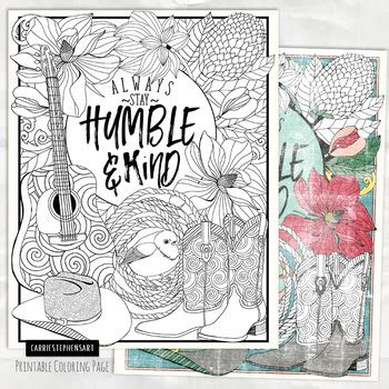 country  coloring page  stay humble  kind printable colouring