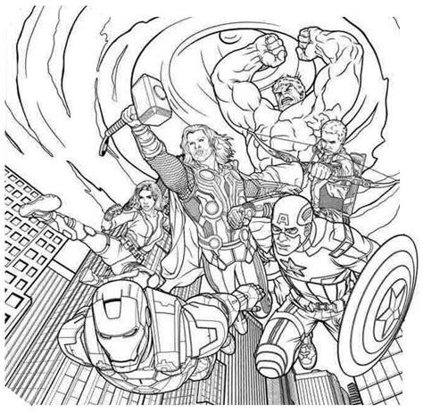 coloring pages avengers  images kolorowanki