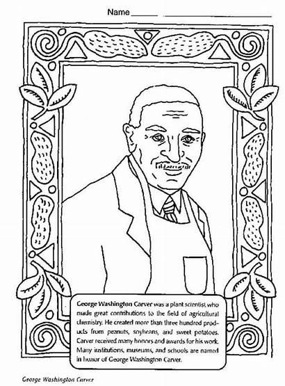 Coloring History Month George Carver Washington Printable