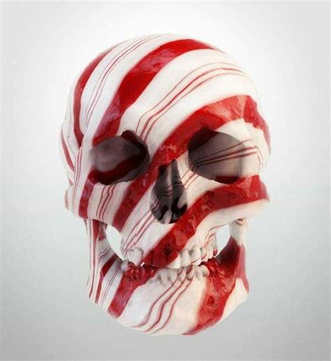 Peppermint Skull Food Drinks Art Candy