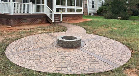 Check spelling or type a new query. Stamped Concrete Fire Pit | Outdoor Lifestyles