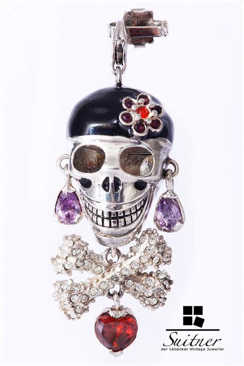 thomas sabo skull totenkopf pirat charm silber anhaenger