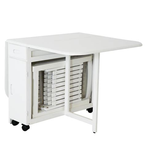 table pliante 4 chaises integrees table 4 chaises pliantes gain de place blanc table repas topkoo
