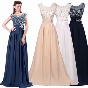 2016 applique women long formal bridesmaid prom wedding for Formal wedding dresses for women