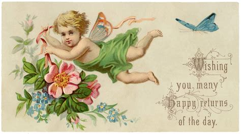 Vintage Fairy Child Image With Flowers The Graphics Fairy