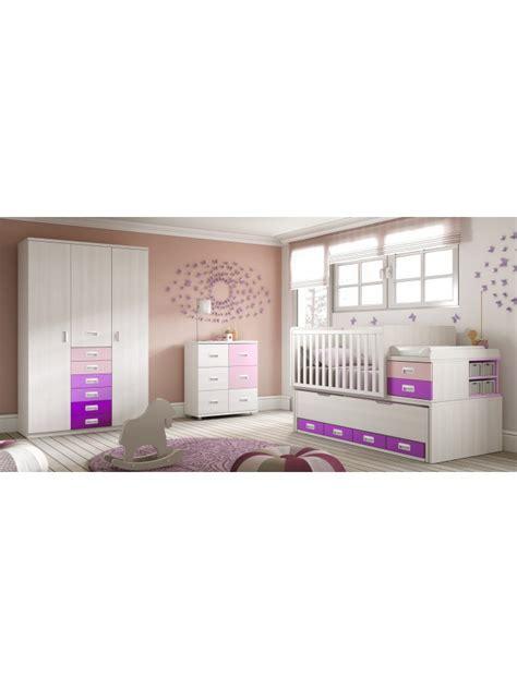 chambre bébé evolutif lit bébé fille 2 évolutif bc30 avec étagère déco