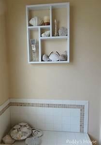 Amazing of diy beach bathroom wall decor oeswrkhi diy bat for How to decorate a bathroom wall