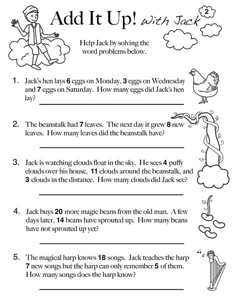 Worksheets for grade 1 maths counting 5s assignment. 10 Amazing 1st Grade Math Word Problems Worksheets Samples ...