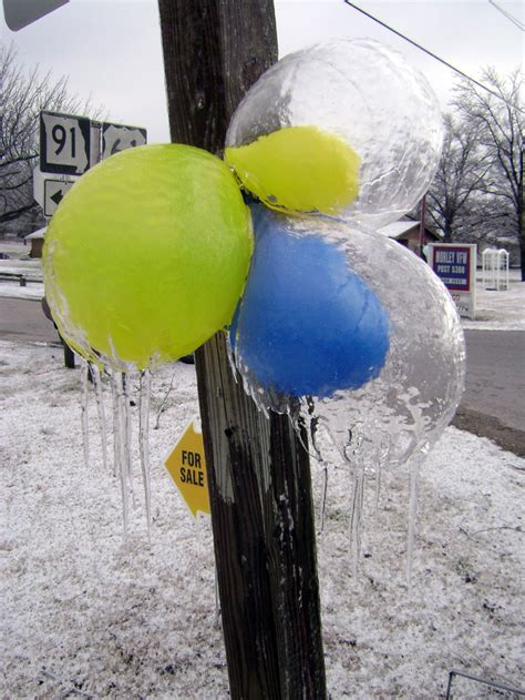 cool  showing    balloons freeze core