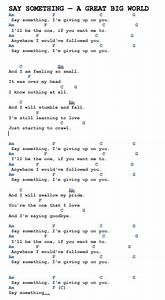Image Result For Say Something I U0026 39 M Giving Up On You Lyric