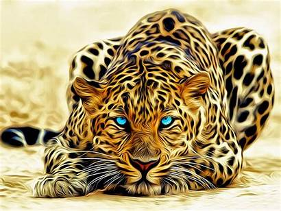 3d Leopard Abstract Wallpapers13