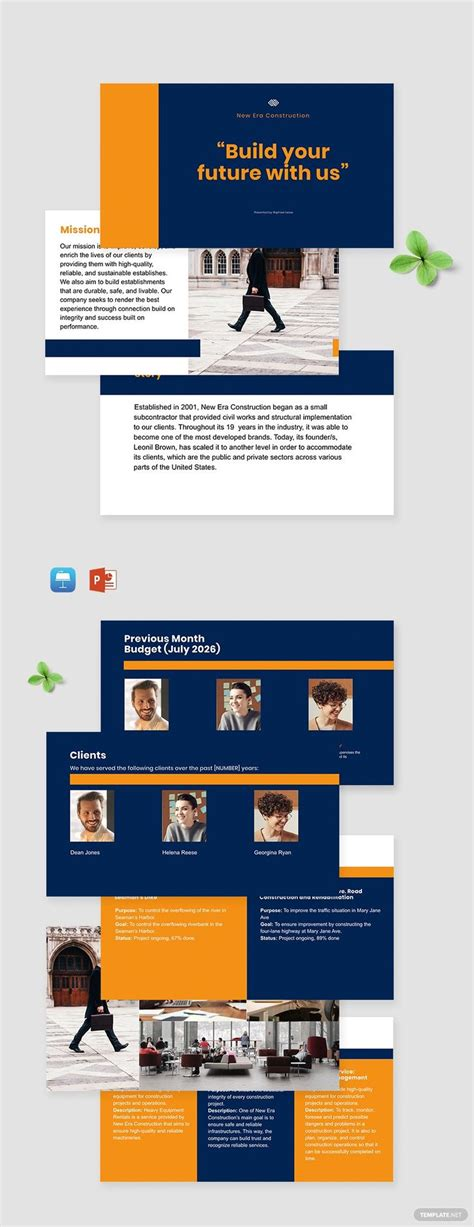 New Construction Company Template - PDF | Word (DOC ...