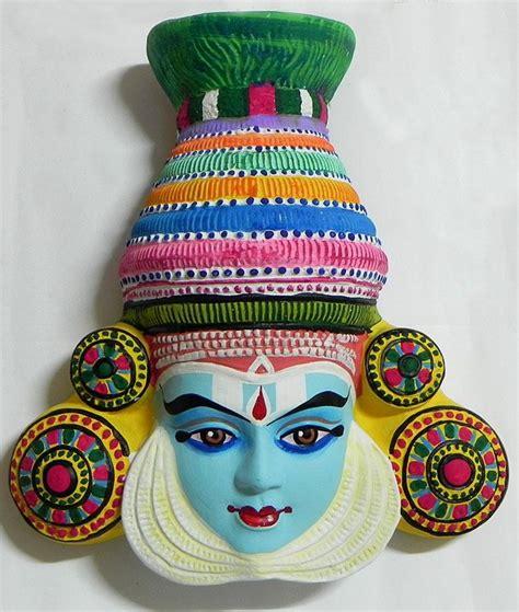krishna mask  mahabharata  kathakali style wall