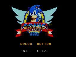 game sonic  hedgehog sega master system  sega