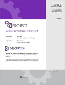 process improvement sample proposal  steps