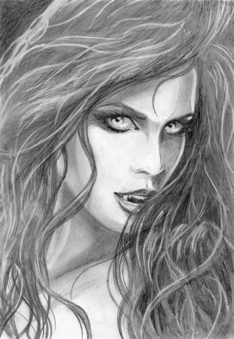 vampiress pencil sketches google search   adult