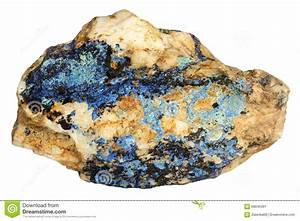 Mineral Lazurite On A White Background Stock Image Image