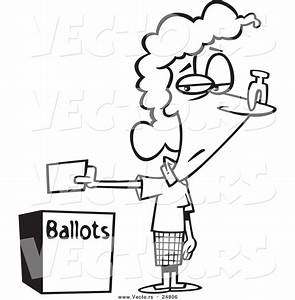 Election Black And White Clipart