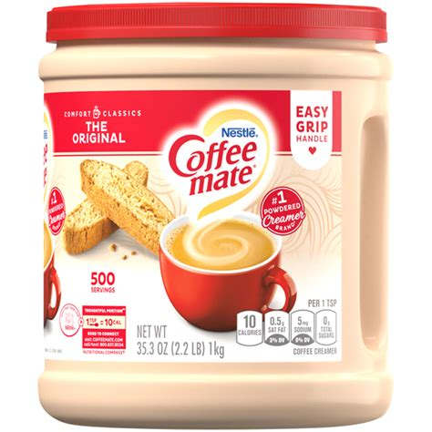 Non dairy creamer use as a flavoring agent, specifically for use in baking foods, such as cakes, biscuits, infant formula, coffee, and ice. COFFEE MATE The Original Powder Coffee Creamer 35.3 Oz ...