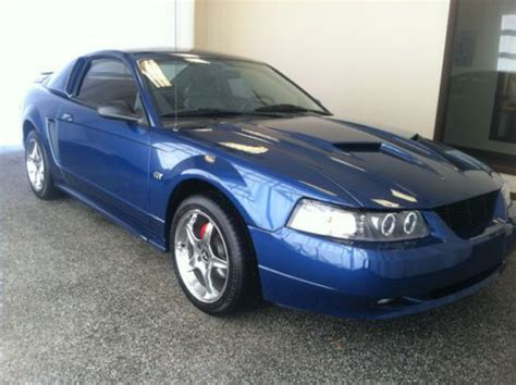 sell   ford mustang gt blue manual transmission