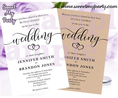 Rustic Wedding Invitationkraft Wedding Invitationskraft