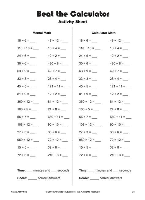 calculator maths worksheets 34 best math problems for