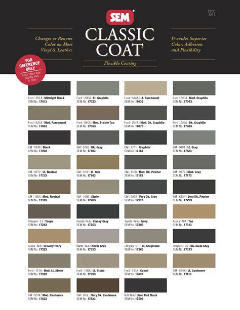 sem vinyl dye color chart oasis fashion