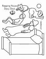 Napping sketch template