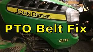 John Deere D105 Pto Belt Change  Easy   You Can Do It