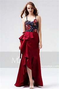 robe soiree long bordeaux l818 With robe bordeau soirée
