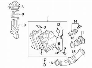 Audi A4 Engine Air Intake Hose  Rear   1 8 Liter