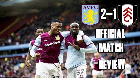 TERRY FIRST GOAL!-Aston Villa vs Fulham review. - YouTube