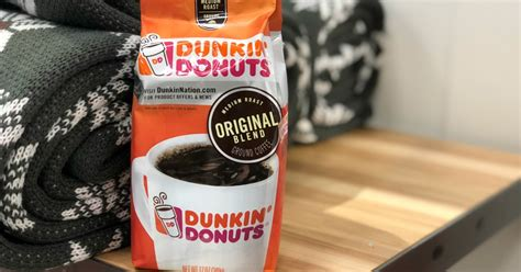 I have heard dd (dear daughter) has less caffeine than most other places thats why i choose i just drink regular coffee from home but i was so stressed out trying to find a decent tasting decaf that i just gave up. Amazon: Dunkin' Donuts Ground Coffee 12oz Bag Only $3.99 Shipped - Hip2Save