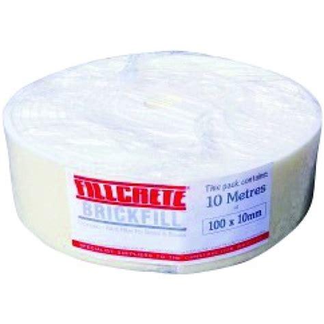 fillable l base uk fillcrete brickfill 100x10mm 10mtr roll exp joint