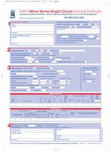 minor electrical installation works certificate template - majoring in the minor works certificate with napit