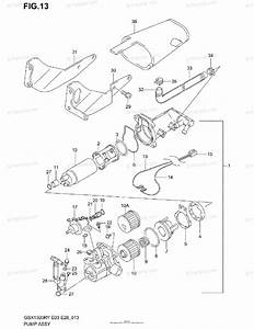 Suzuki Motorcycle 2000 Oem Parts Diagram For Pump Assy