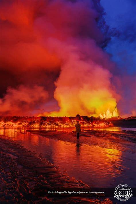dramatic close ups   volcanic eruption  iceland