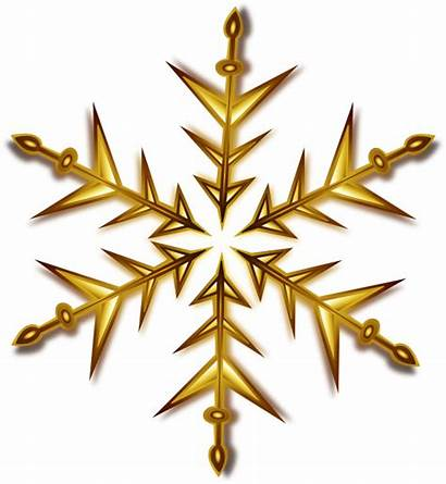 Gold Snowflake Clip Clipart Clker Vector Domain