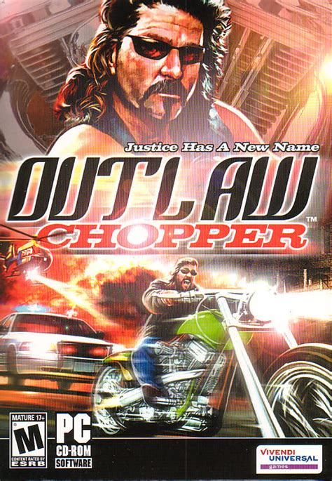 outlaw chopper harley motorcycle racing pc game  box