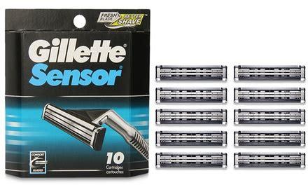 gillette sensor refills  pk groupon goods